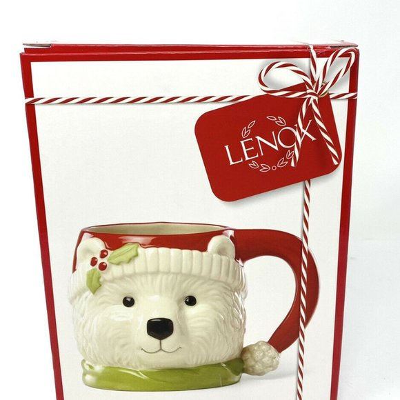 New Lenox Polar Bear Mug - Coffee Hot Coco Cup